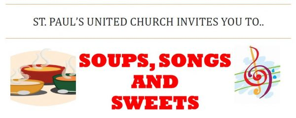 SPUC invites you to Soups, Songs and Sweets